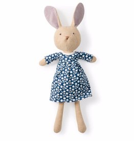 Hazel Village Stuffed Animal Juliette Rabbit Navy Berries Dress