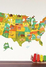 Petit Collage Fabric Wall Decal USA