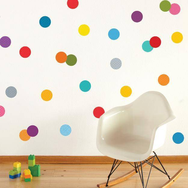 Petit Collage Fabric Wall Decal Confetti