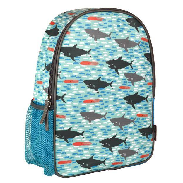 Petit Collage Backpack Sharks