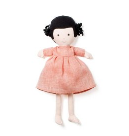 Hazel Village Doll Nell Coral Linen Dress