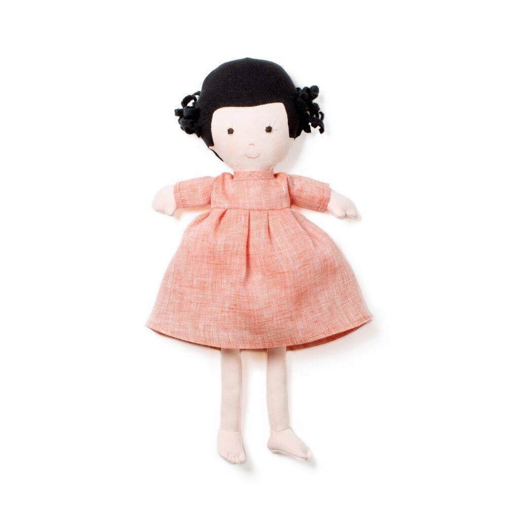 Hazel Village Doll Nell Coral Linen Dress