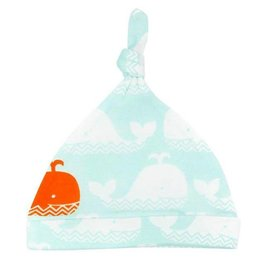 Carley Barley Hat Orange Whale 0-3M