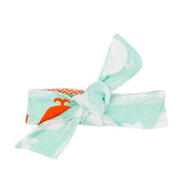 Carley Barley Headband Orange Whale One Size