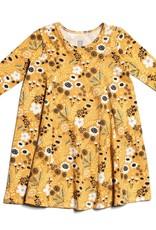 Winter Water Factory Mia Princess Dress Wildflowers Yellow