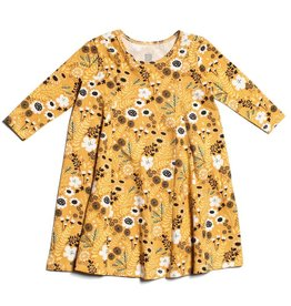 Winter Water Factory Mia Princess Dress Wildflowers Yellow