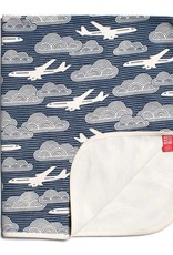 Winter Water Factory French Terry Blanket In The Clouds Navy