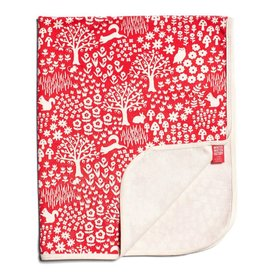 Winter Water Factory French Terry Blanket Woodland Red