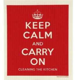 Cose Nuove Swedish Dischcloth Keep Calm Red