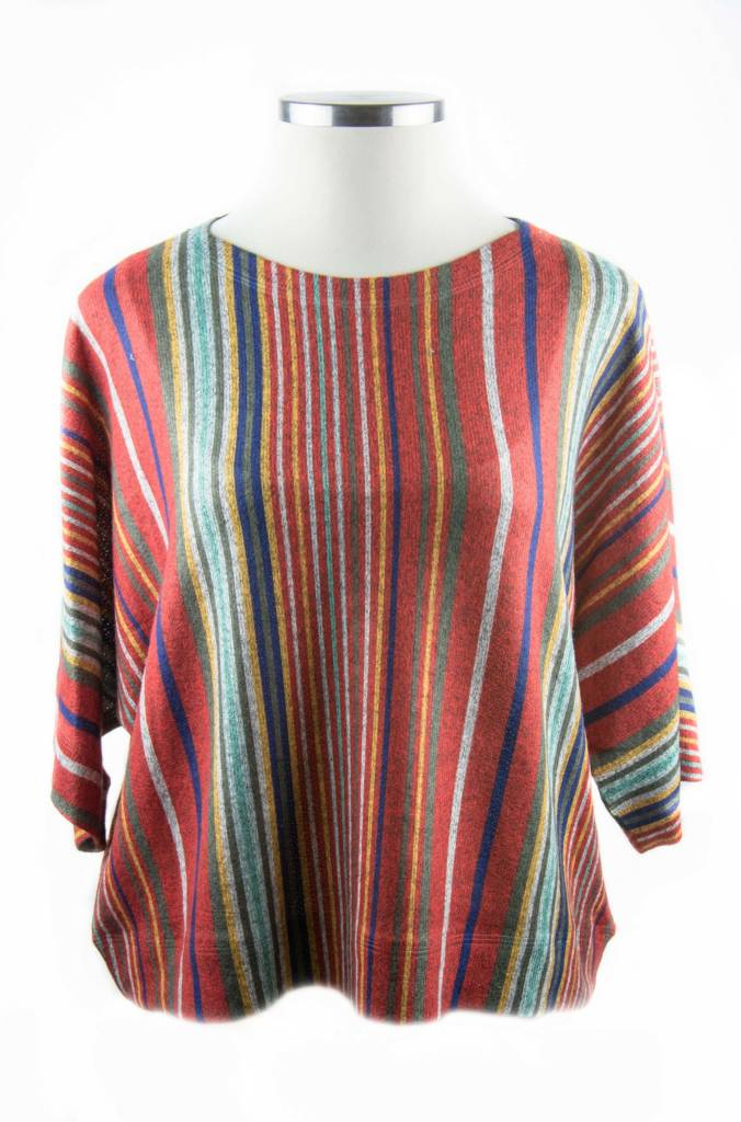 Nally and Millie Vertical Stripe Top Multicolor OS