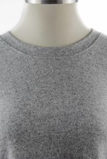Nally and Millie Brushed Panel Seam Cuff Heather