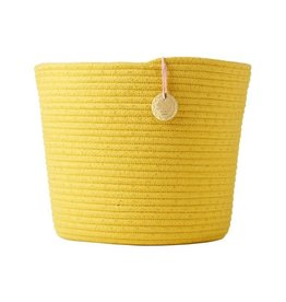 Rice Round Rope Storage Basket Yellow