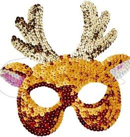 Rice Sequin Mask Deer