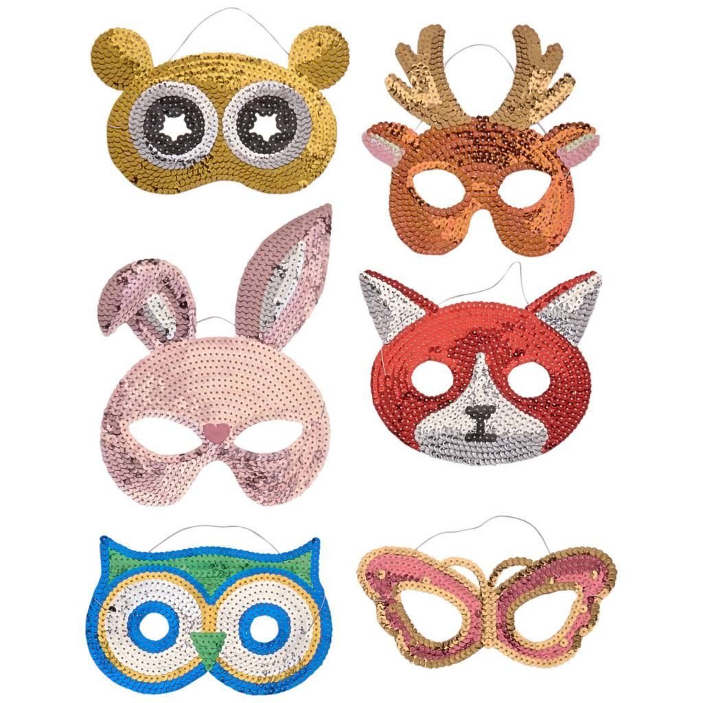 Rice Sequin Mask Owl