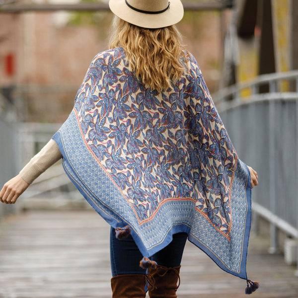 Rockflowerpaper Yoko Navy Kimono Scarf