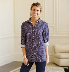 Rockflowerpaper Pascale Navy Button Down Shirt
