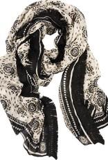 Rockflowerpaper Ayana Black Viscose Fringe Scarf