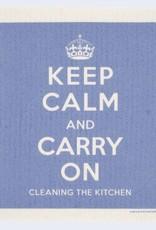 Cose Nuove Swedish Dischcloth Keep Calm Blue