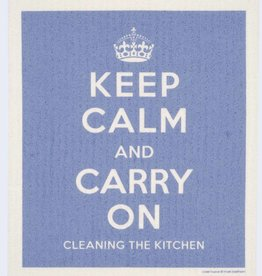 Cose Nuove Swedish Dischcloth Keep Calm Blue