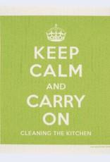 Cose Nuove Swedish Dischcloth Keep Calm Green
