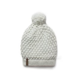Krochet Kids Moss Stitch Beanie Abby Pale Blue