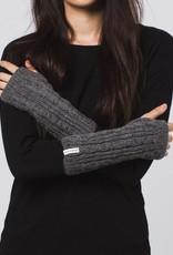 Krochet Kids Cable Knit Gloves Heather Grey