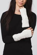 Krochet Kids Cable Knit Gloves White