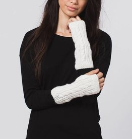 Krochet Kids Cable Knit Gloves White