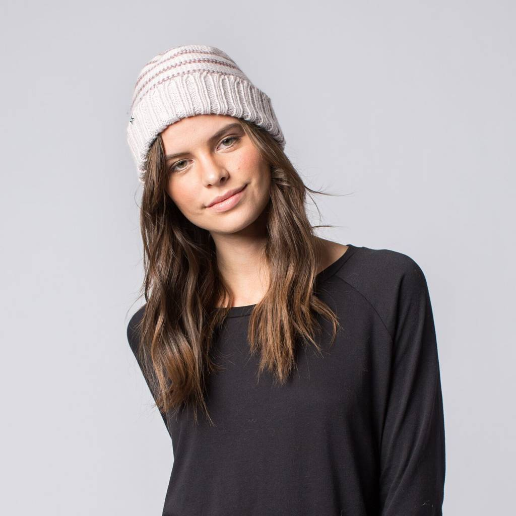 Krochet Kids Pear Knit Hat Cara Lilac