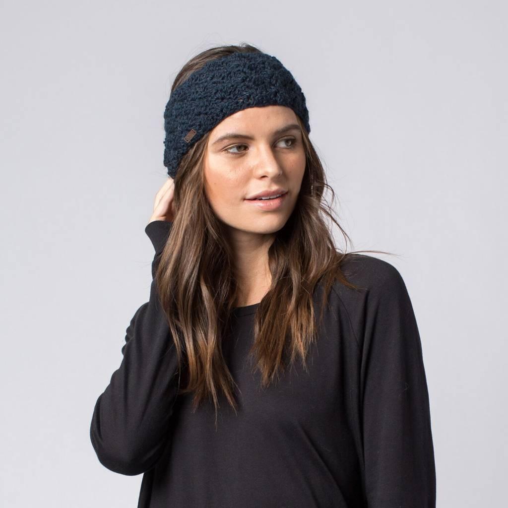Krochet Kids Headband with Buttons Cora Navy