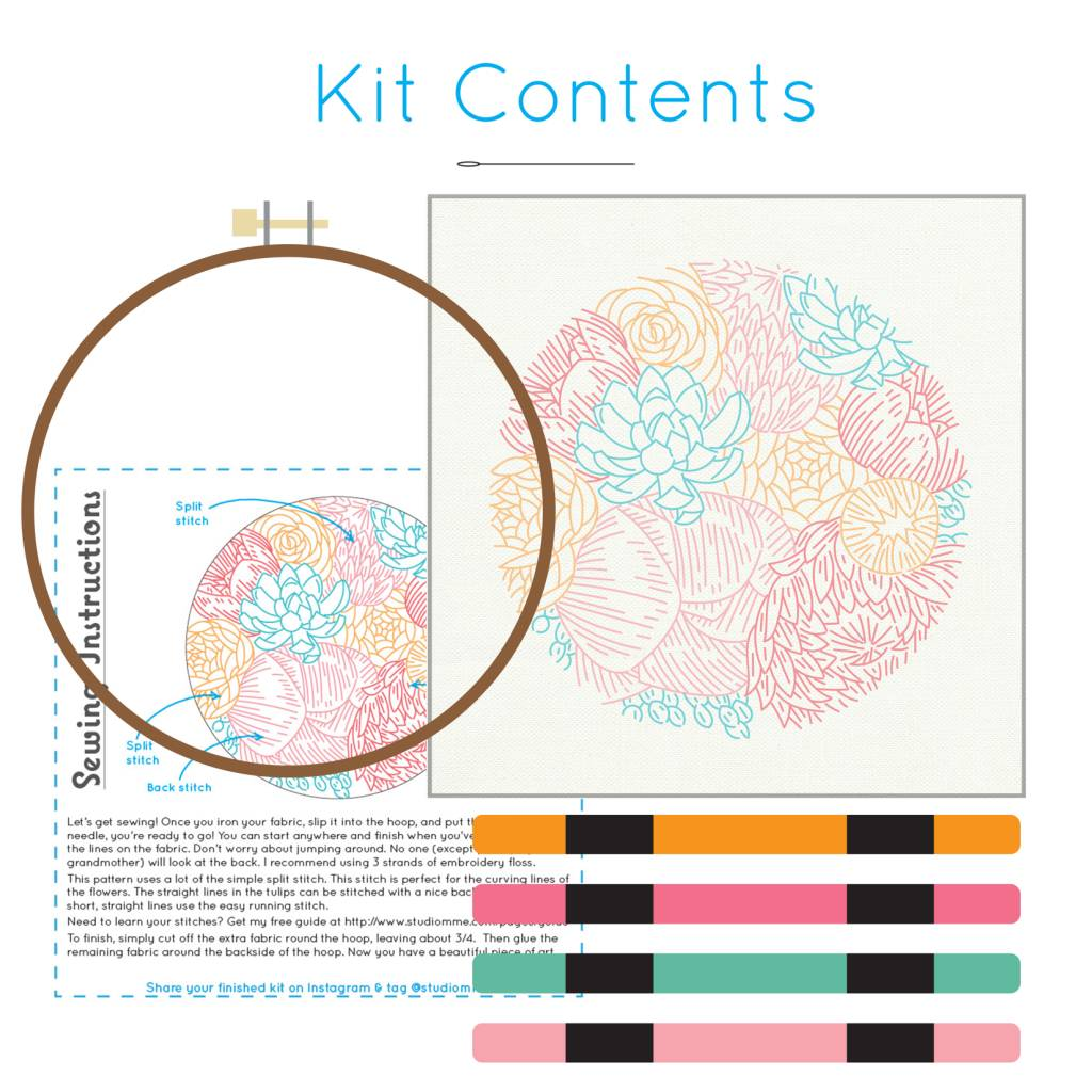 Studio MME Floral Profusion Embroidery Kit