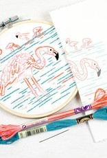Studio MME Flamboyant Flamingos Embroidery Kit