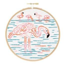 Studio MME Flamboyant Flamingos Embroidery Kit