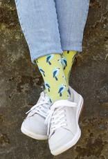 Rockflowerpaper Birdies Lime Pair of Socks