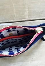 Erin Flett Zip Velvet Wristlet Navy