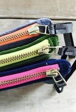 Erin Flett Zip Velvet Wristlet Charcoal