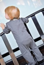 Loved baby Organic Long-Sleeve Overall Grey