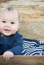 Loved baby Organic Long-Sleeve Overall Navy