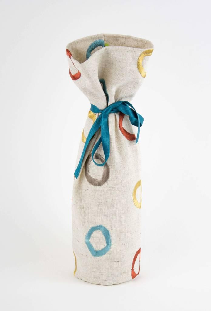 Kreatelier Bottle Gift Bag Multi Color Circles