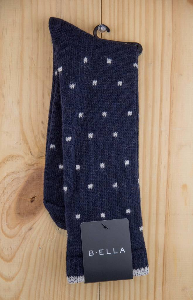 B.ella Kitty Pin Dot Crew Socks Dark Navy