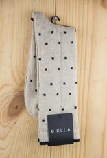 B.ella Kitty Pin Dot Crew Socks Oatmeal