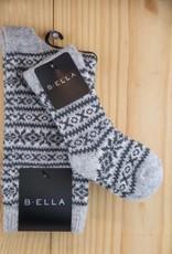 B.ella Aspen Mom/Baby Fairisle 2P Socks Grey