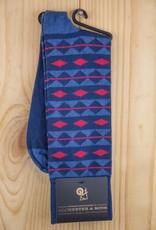 Alchester & Sons Cooper Aztec Stripes Socks Navy