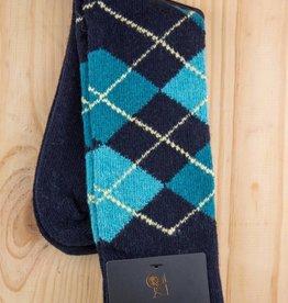 Alchester & Sons Agosto Argyle Socks Navy