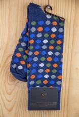 Alchester & Sons Arlo Cotton Dot Socks Navy