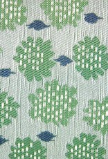 "Kreatelier Square Pillow 18""x18"" Green Flowers/Blue Back"