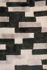 """Kreatelier Rectangular Pillow 11""""x21"""" Black Grey Velvet"""