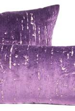 """Kreatelier Rectangular Pillow 11""""x21"""" Purple Velvet"""