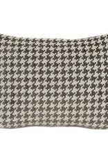 """Kreatelier Rectangular Pillow 10""""x14"""" Houndstooth Brown"""