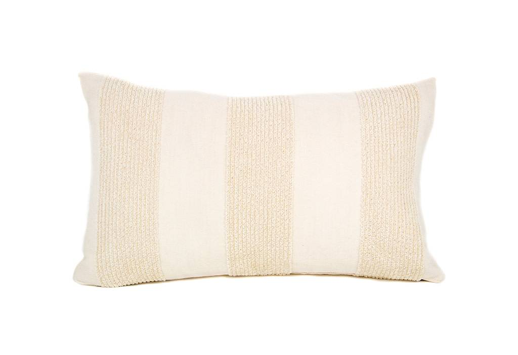 "Kreatelier Rectangular Pillow 11""x18"" Cream"